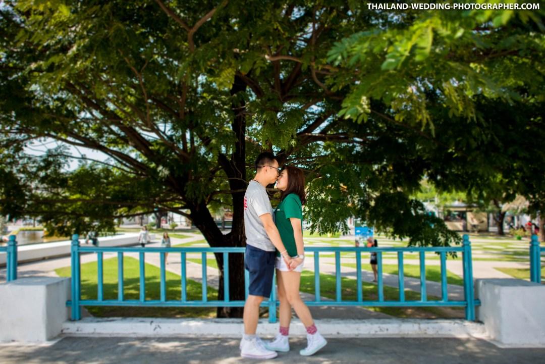 Santorini Park Cha-am Hua Hin Thailand Wedding Photography