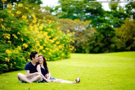 Pre-Wedding photoshoot at Rod Fai Park in Bangkok, Thailand.