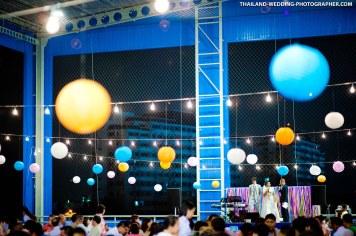 Thai wedding photo taken at Skykick Arena in Bang Na, Thailand.