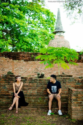 Ayutthaya Historical Park Thailand Wedding Photography | NET-Photography Thailand Wedding Photographer