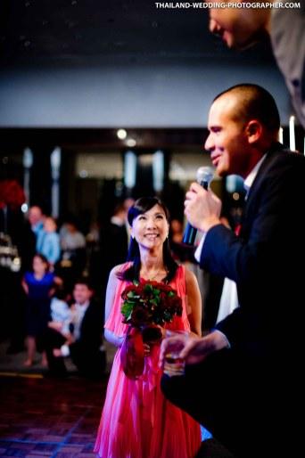 Thai wedding photo taken at The Sukhothai Bangkok in Thailand.