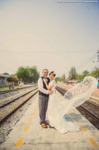 Hua Hin Train Station Thailand Wedding Photography