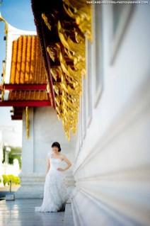 Marble Temple Bangkok Thailand Wedding Photography
