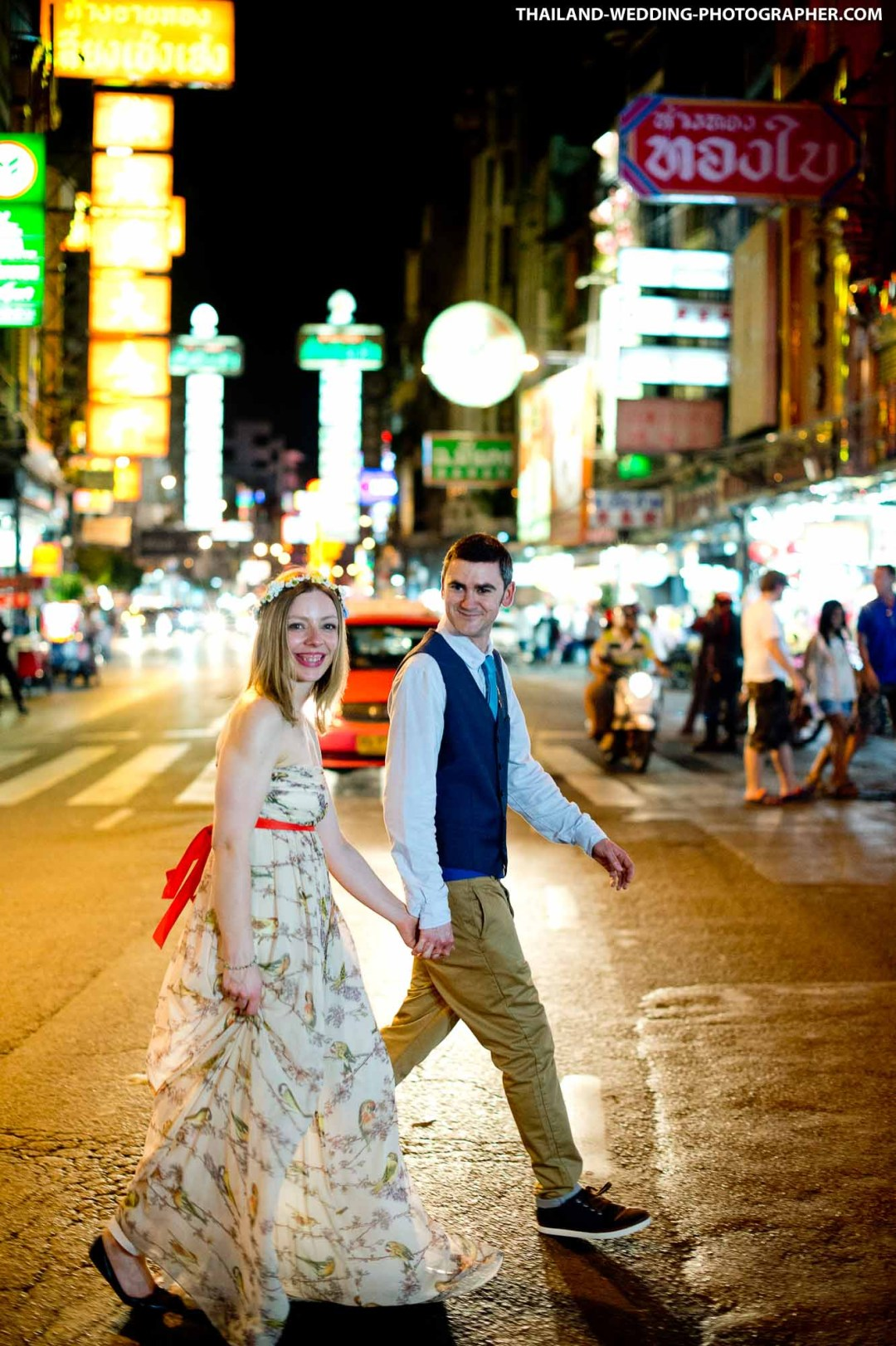 China Town Bangkok Thailand Wedding Photography