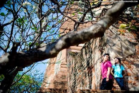 Wat Yai Chai Mongkhon Ayutthaya Thailand Wedding Photography