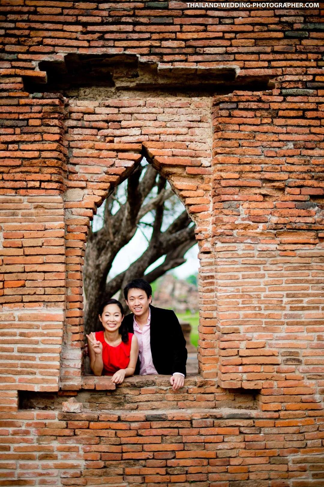 Wat Phra Si Sanphet Ayutthaya Thailand Wedding Photography