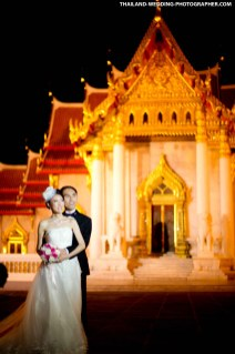 Marble Temple Bangkok Pre-Wedding Photography