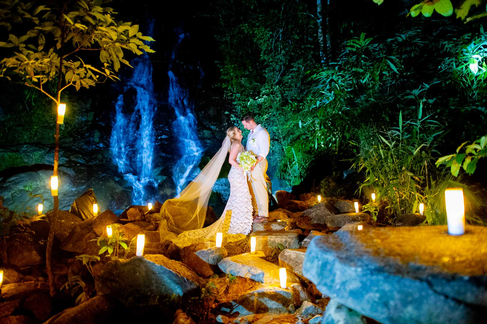 The Sarojin & Sai Rung Waterfall Phang-Nga Wedding
