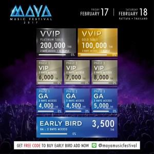 Maya Music Festival Pattaya 2017 - Ticket Information, International DJs, Music Festival