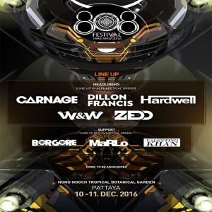 808 Festival Pattaya 2016, International DJs, Event, Hardwell, EDM, Trance, House Music, Thailand , Zedd