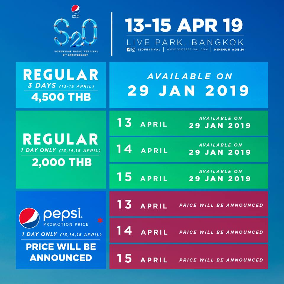 S2O Songkran Music Festival Bangkok 2019! - Thailand DJ Festivals