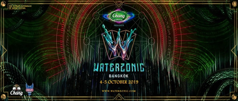 Waterzonic Bangkok 2019 - Event Banner, DJ Festival, Bangkok, Thailand
