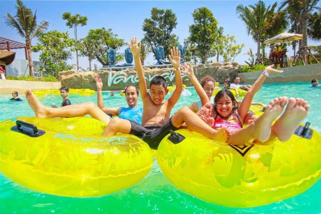 Kids having fun and playing in a donut. Thailand Event Guide