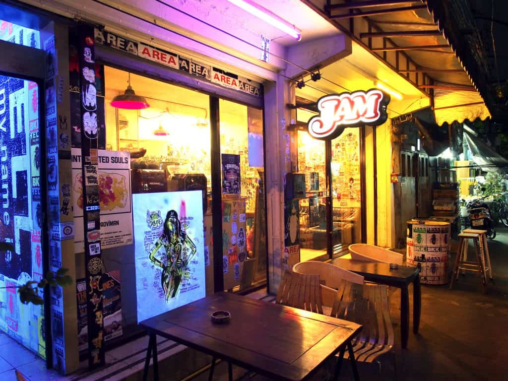 Front of the Jam Art Space. Thailand Event Guide