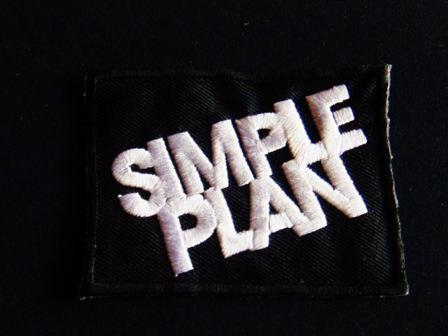 SIMPLE PLAN  Iron On Sew On Embroidered Patch Rock Band