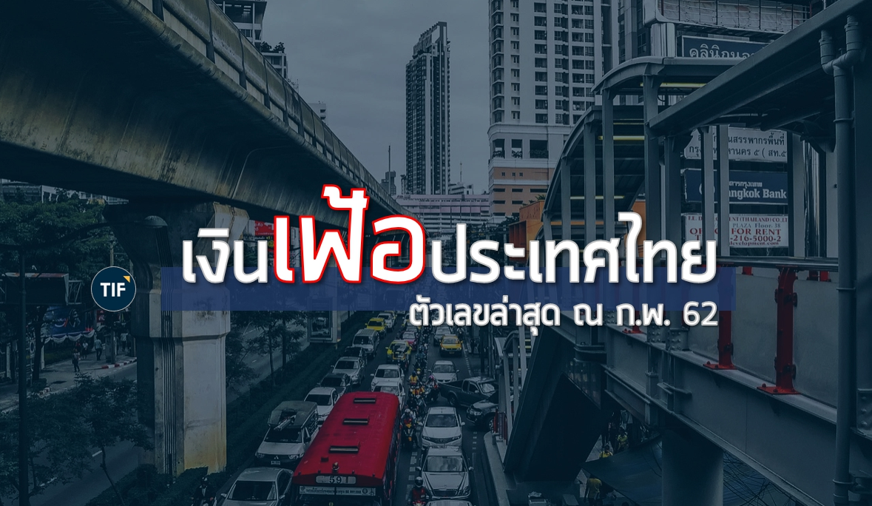 เงินเฟ้อประเทศไทย อัปเดต ณ ก.พ. 62