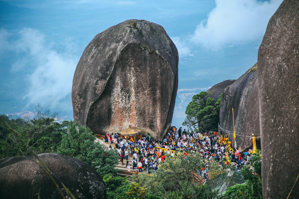 Khitchakut Mountain , Buddha Mountain in Chanthaburi Thailand