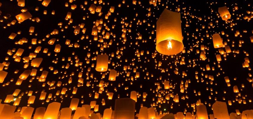 ประเพณียี่เป็ง (Yee Peng Festival), Sky Lantern