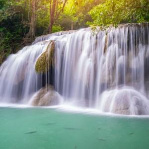 น้ำตกเอราวัณ (Erawan Waterfall) Kanchanaburi