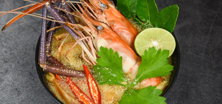 Tom Yum Goong or Spicy Shrimp Soup
