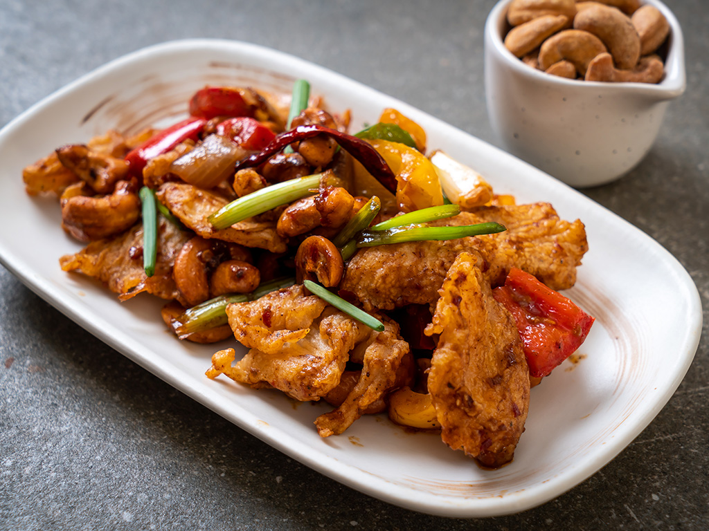 Kai Pad Med Ma Muang or stir-fried chicken with cashew nuts