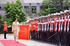 Royal Thai Army honor guard inspection