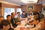 Thai Railway Project Yingluck meeting in train