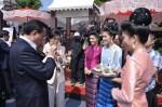 China Premier enjoying a drink