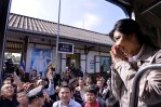 Yingluck greets the public