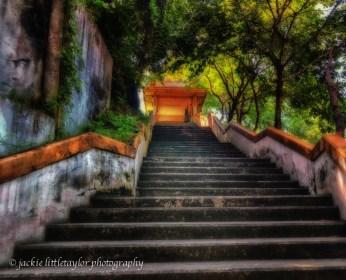 Wat Siray Siray Island Thailand 1st set of steps impression