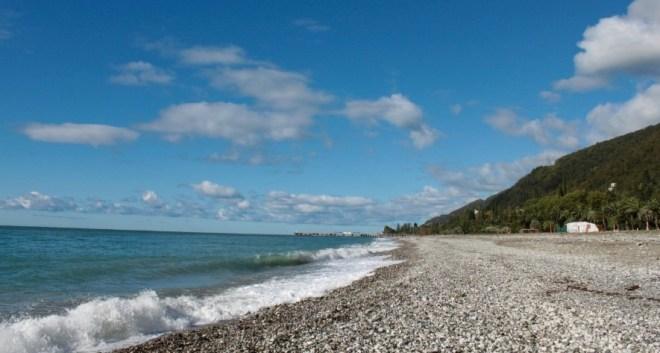 Пляжи в Абхазии