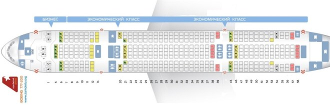 Боинг 777 200 схема салона - Nordwind Airlines