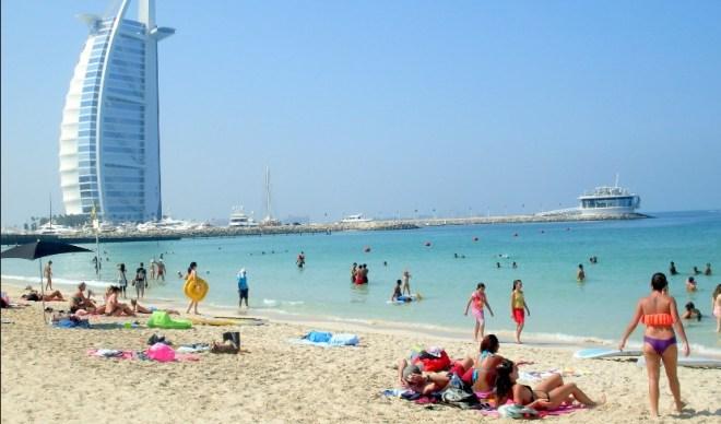 Пляж в Дубае