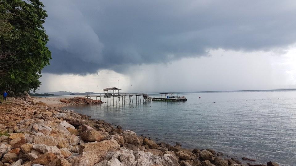Storm over Koh Talu in the rainy season