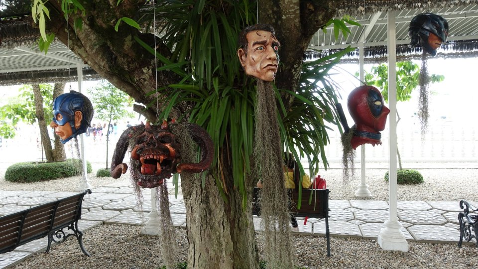 Art installation at the Wat Rong Khan temple.