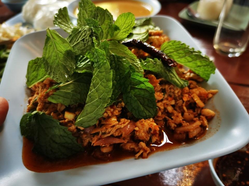 Chicken laarp in Kannikar restaurant Hua Hin