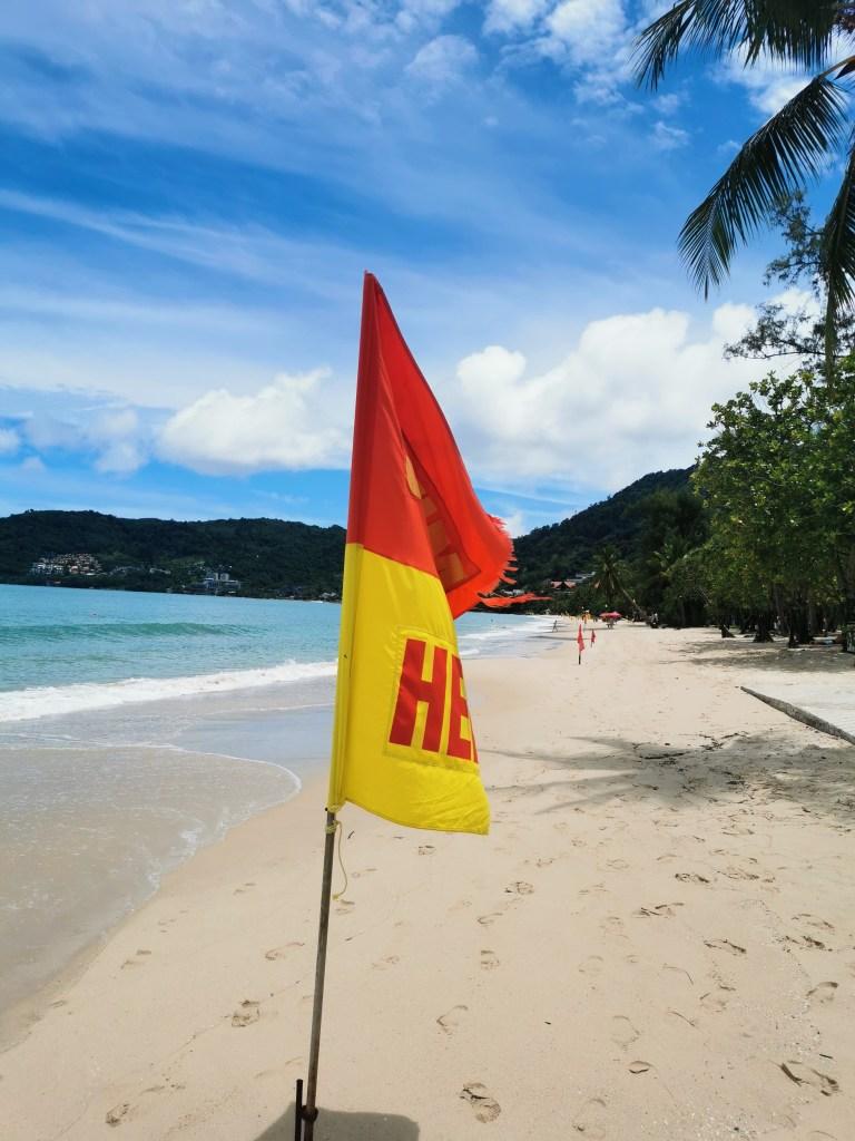 Flag on Patong Beach