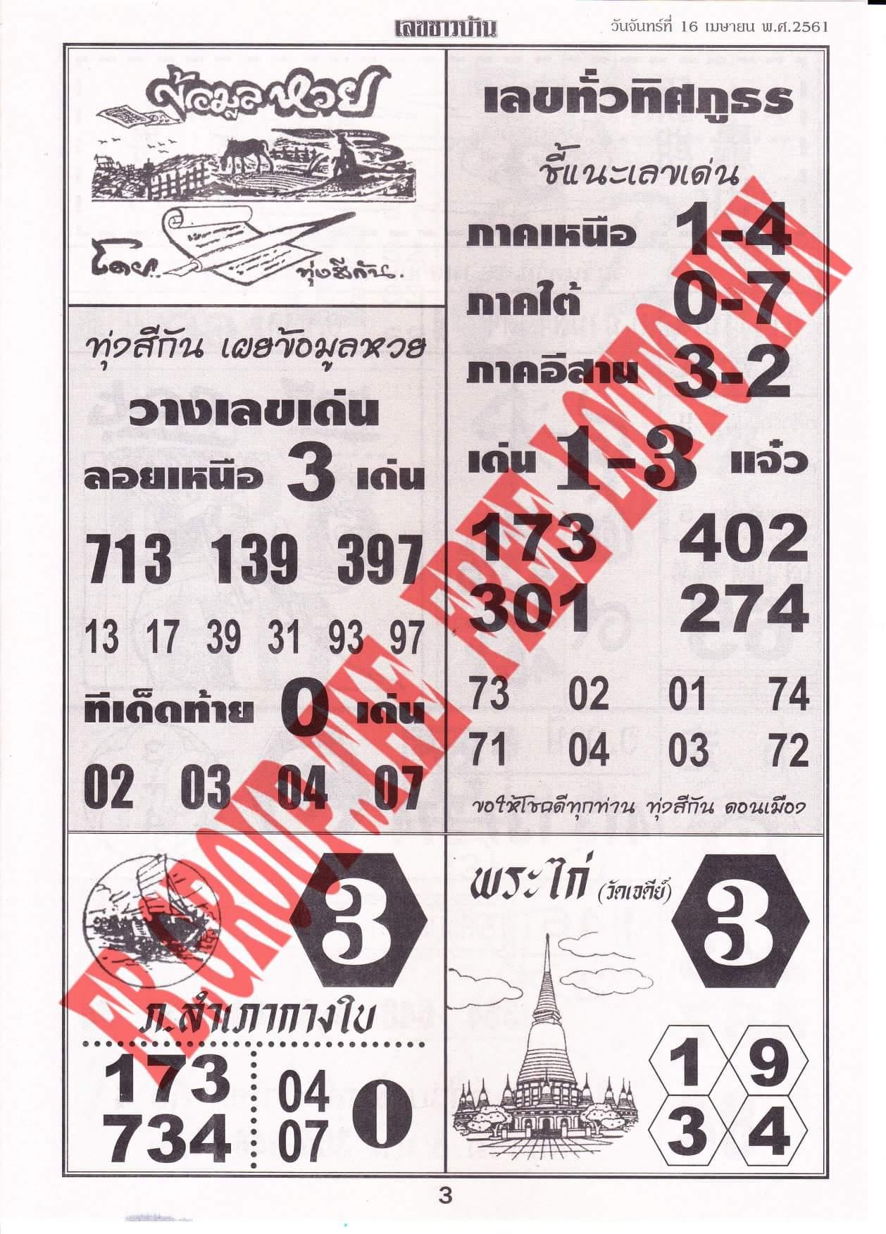 www thai lotto facebook com