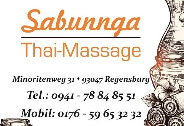 Öffnungszeiten Sabunnga Thaimassage Regensburg