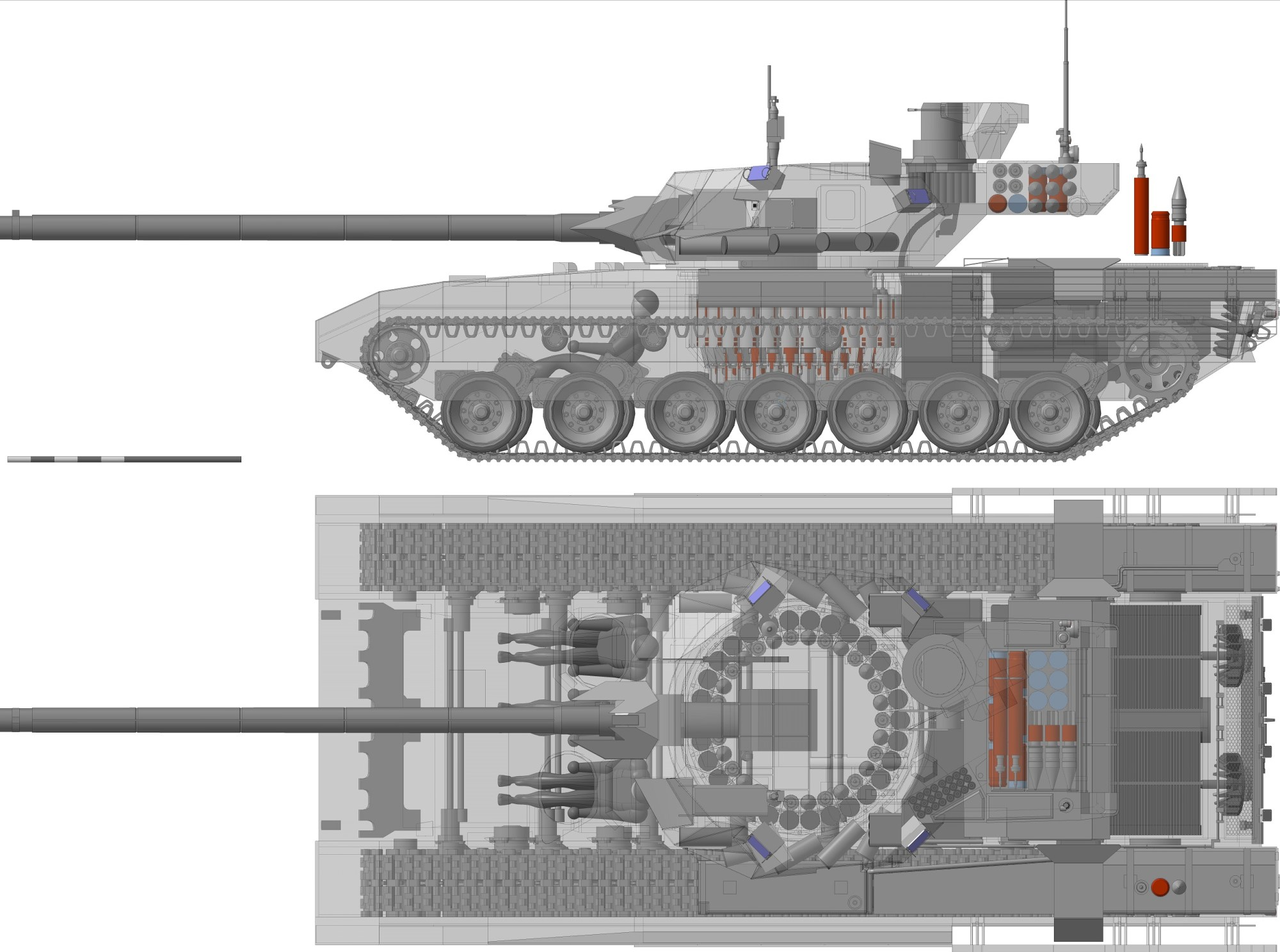 hight resolution of t 14 armata tank autoloader diagram