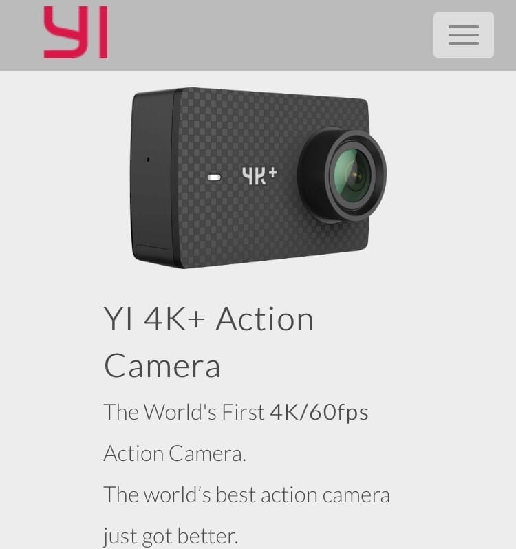 Test av min nya actionkamera Yi 4K+