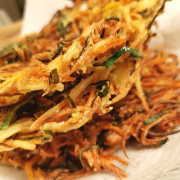 Superkrispiga Birdnest tempura & barnvänlig ponzusås (GF, ÄF, LF)