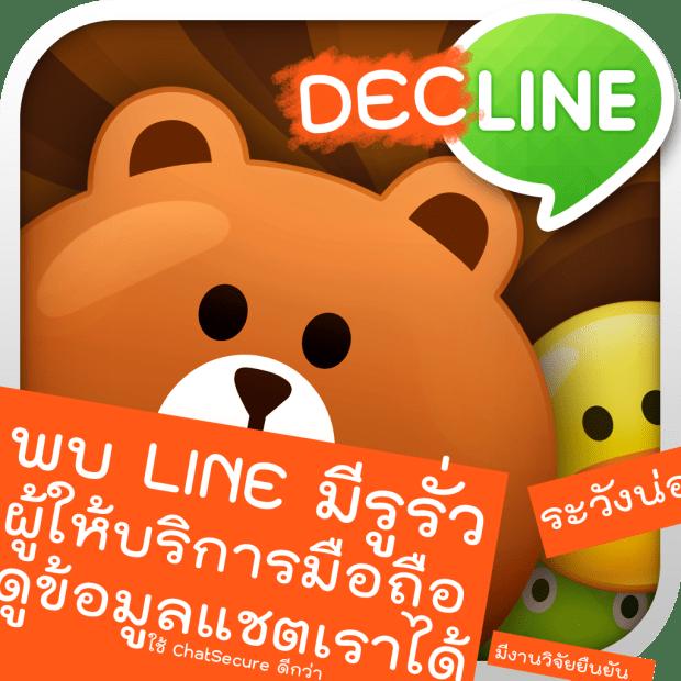 LINE ไม่ปลอดภัย หยุดใช้สื่อสารข้อความส่วนตัว