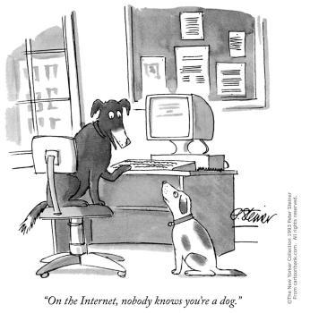 บนอินเทอร์เน็ต ไม่มีใครรู้หรอกว่าแกเป็นหมา