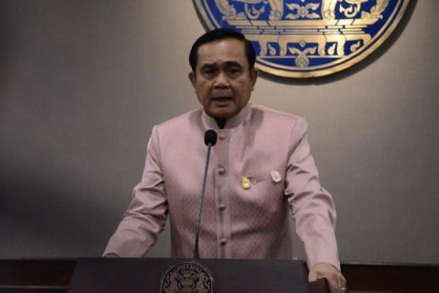 พลเอกประยุทธ์ จันทร์โอชา นายกรัฐมนตรี ประธานการประชุมคณะรัฐมนตรีวันนี้ (16 มิ.ย. 58) [ที่มาภาพ: เว็บไซต์รัฐบาลไทย]