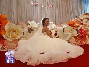 แต่งงาน เจ้าสาว ดอกไม้กระดาษ