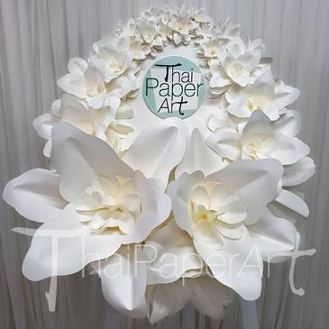 พวงหรีด พวงหรีดดอกไม้กระดาษ