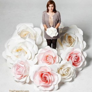 ดอกไม้กระดาษ แต่งงาน