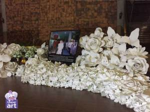 พวงหรีด งานศพ ดอกไม้หน้าโลง