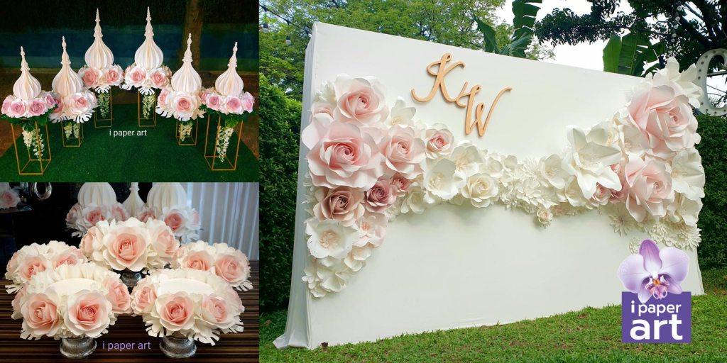 ดอกไม้กระดาษ ฉากงานแต่ง